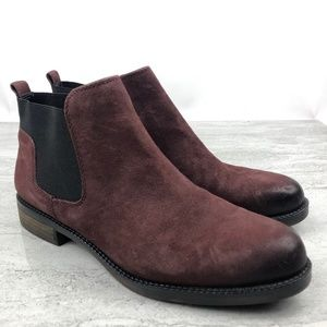 Franco Sarto Suede Ankle Boots